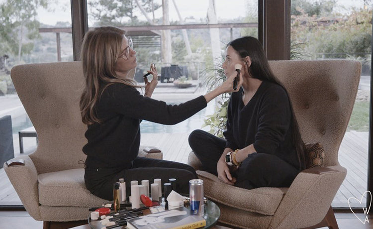 "Introducing ""Makeup & Friends!"" Demi Moore Kicks Off Our New Beauty Series with an Epic Tutorial"