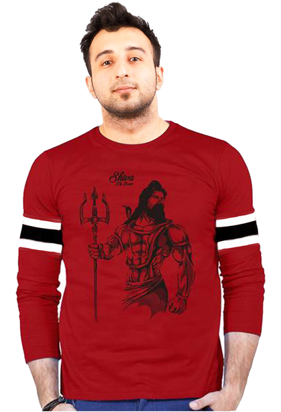 Shiva The Power Red Cotton T-Shirt