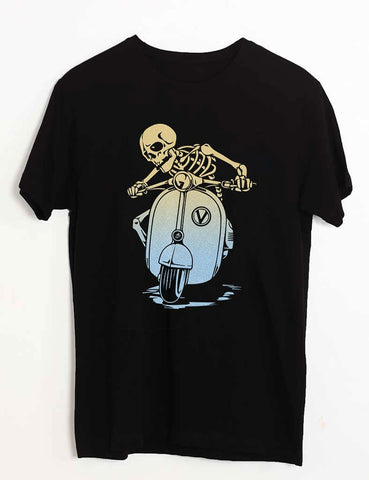 SKULL ON SCOOTER T-SHIRT