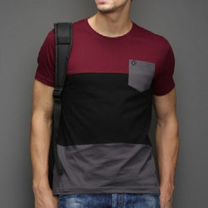 Maroon Multi Panel Tees
