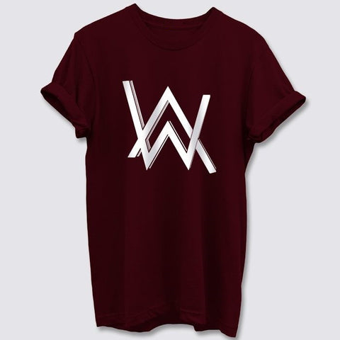 Alan_Walker_Burgundy_T_Shirt_Mens-Min