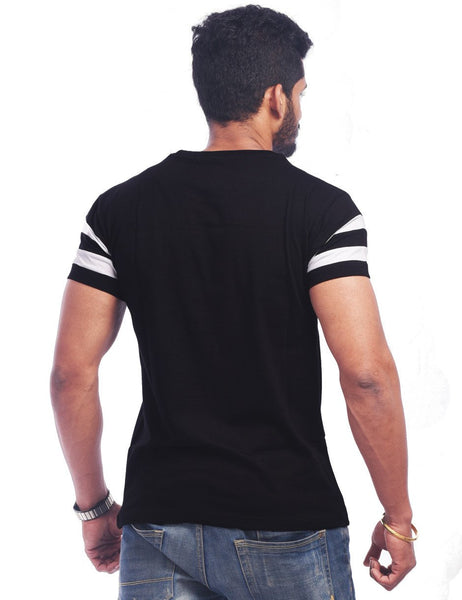 Black Round Neck T-Shirt - PARTY HARD