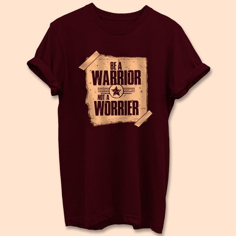 Be_A_Warrior_Burgundy_T_Shirt_Mens-Min_1