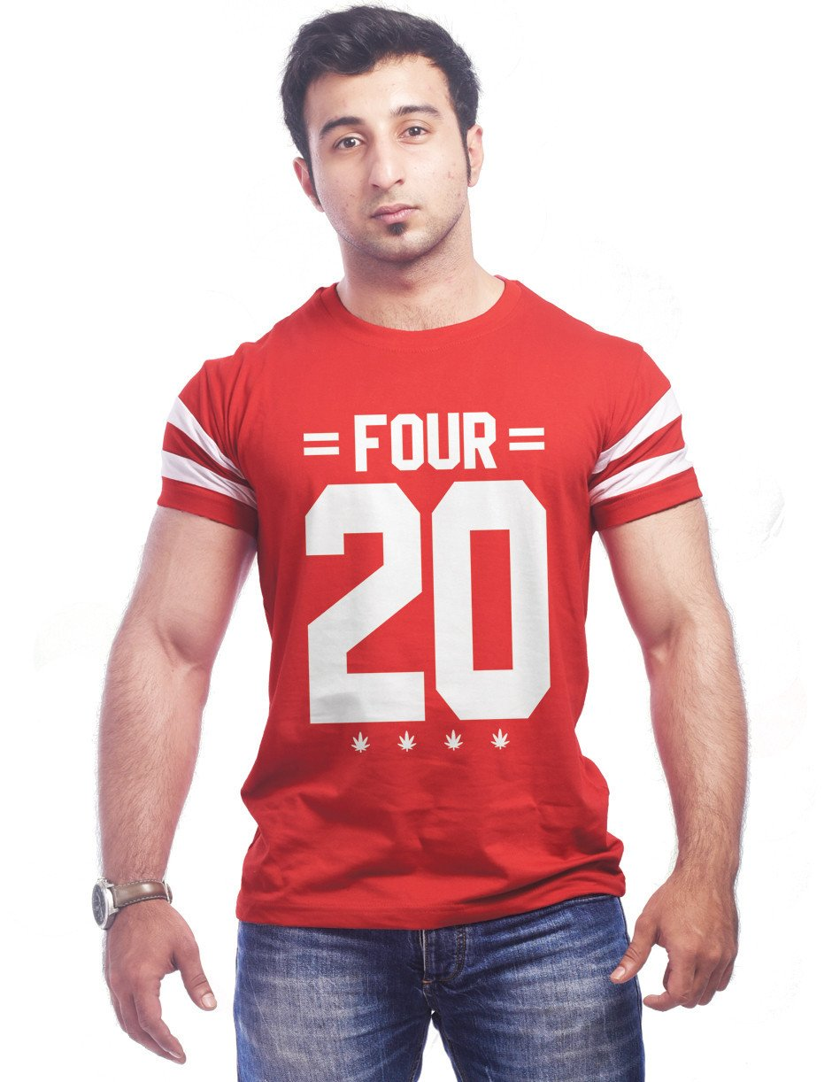 Red Round Neck T-Shirt - FOUR 20