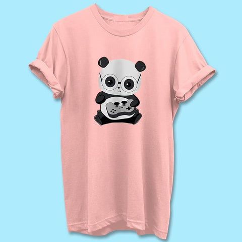 Gamer_Panda_Pink_T_Shirt_Mens-Min