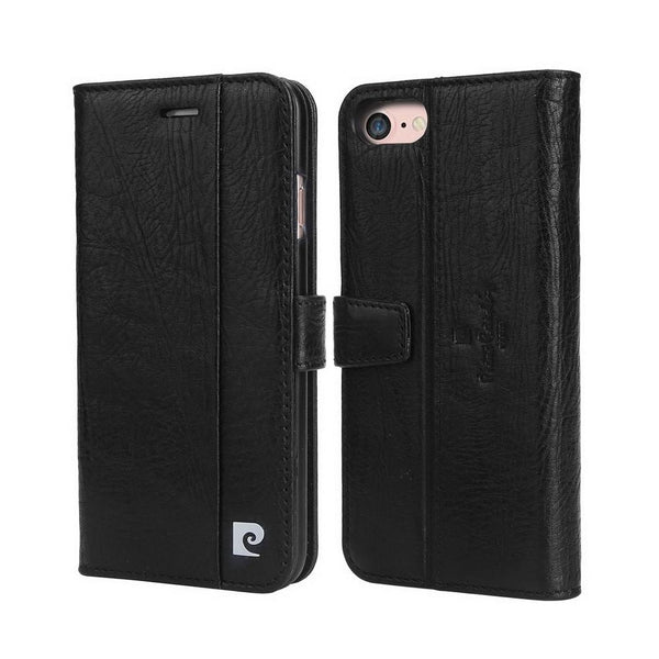 Capa Iphone 7/8 100% Original Pierre Cardin Couro Flip Cover Preto