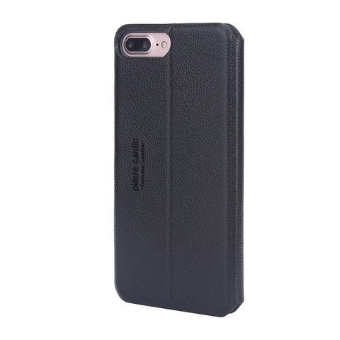 Capa Iphone 7/8 Plus 100% Original Pierre Cardin Couro Vip Preto