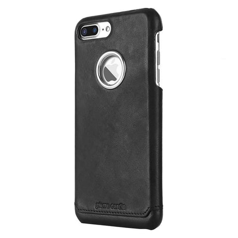 Capa Iphone 7/8 Plus Pierre Cardin Original Couro 100% Legítimo Preto