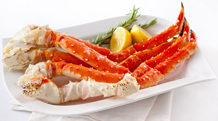 Boiled Alaskan King Crab Legs