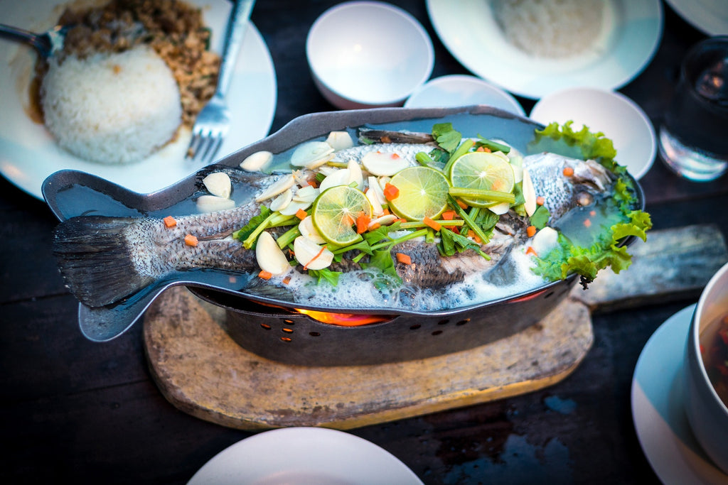 HK Style Steamed Sea Bass
