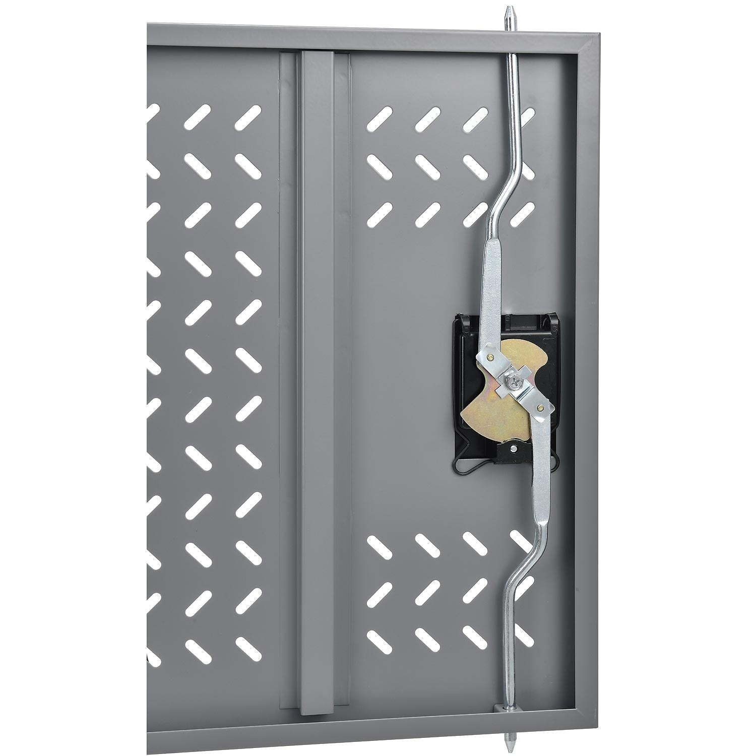Portable charging cabinet locking ventilating doors