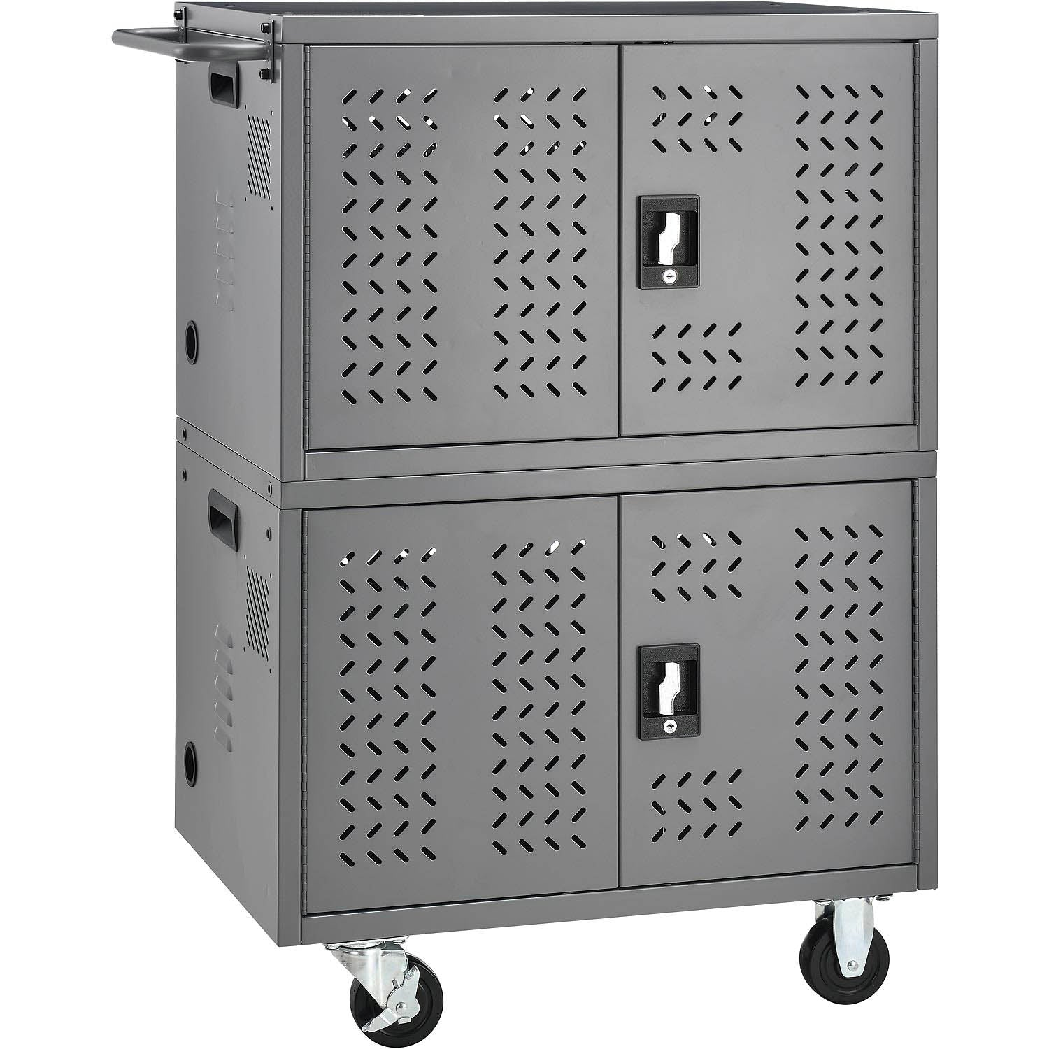 Charging cart with durable, all steel constructions