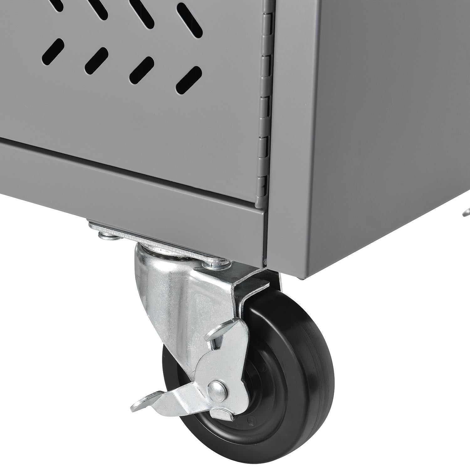 Charging cart with lockable wheels