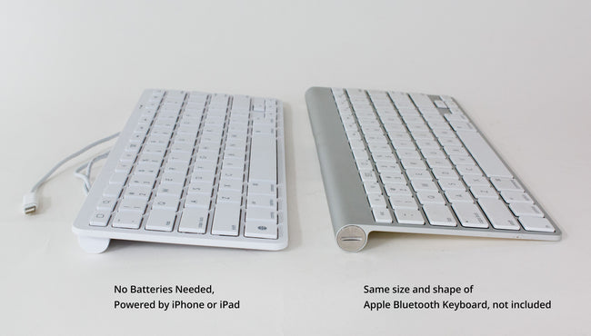 30-pin Wired iPad Keyboard - Older Wide iPod Style Connector