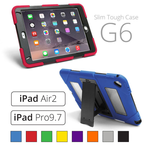 Hard Cover for Rugged iPad Case for Apple iPad 5th Gen (2017) / Air2 / Pro9.7