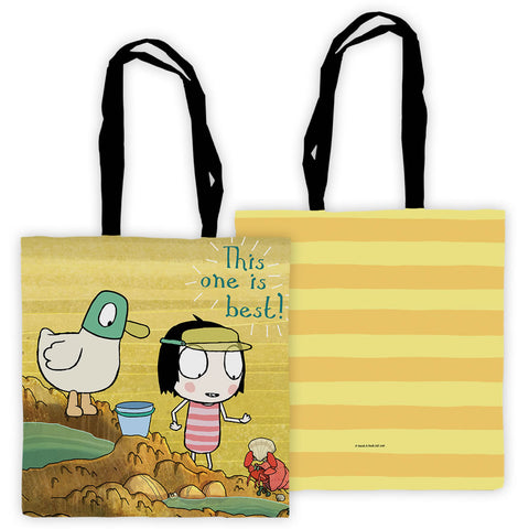 "Sarah & Duck ""this one is best"" Edge to Edge Tote"