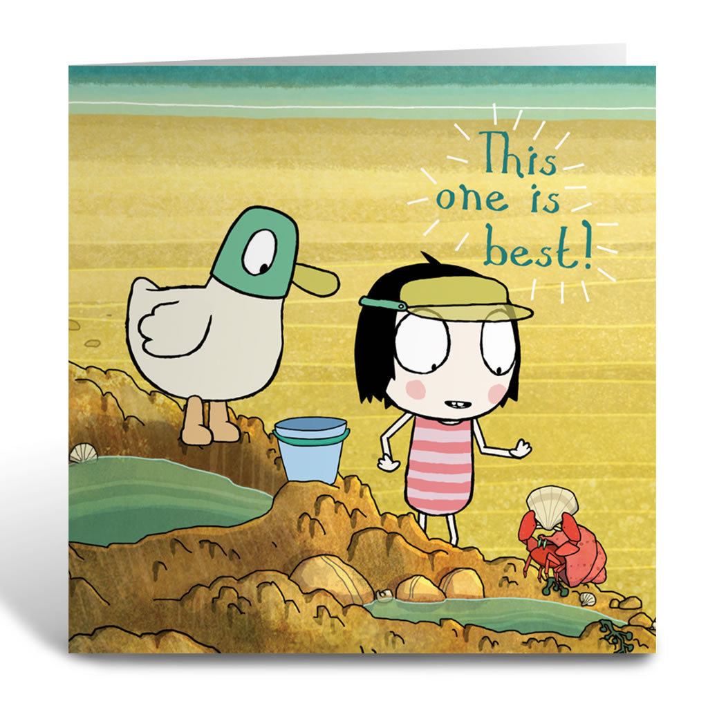 "Sarah & Duck ""this one is best"" Square Greeting Card"