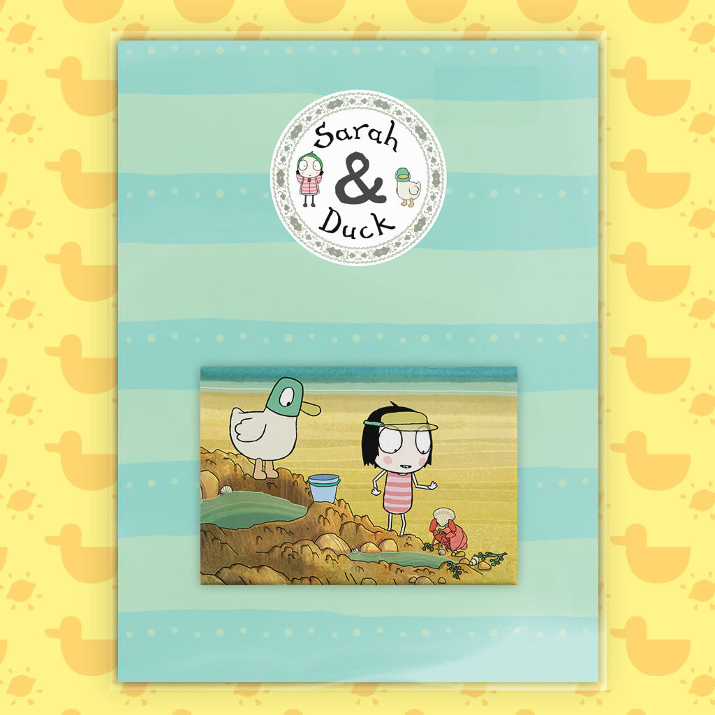 Sarah & Duck at the Beach Magnet (Lifestyle)