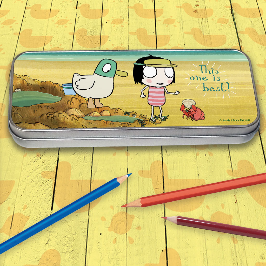 "Sarah & Duck ""this one is best"" Pencil Tin (Lifestyle)"