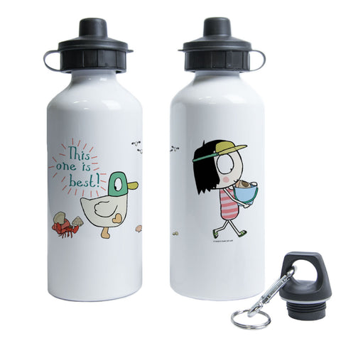 "Sarah & Duck ""this one is best"" Water Bottle"