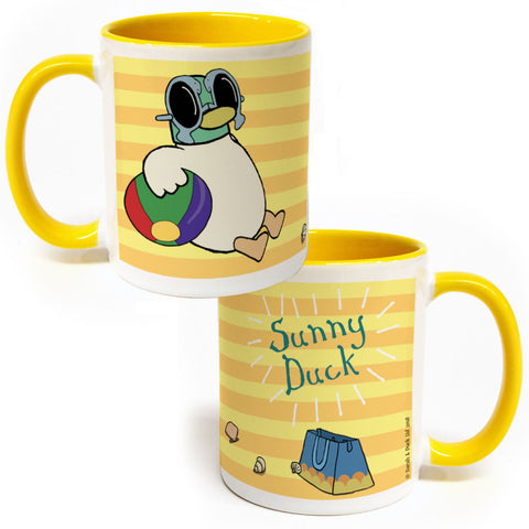 Sunny Duck Yellow Colour Insert Mug