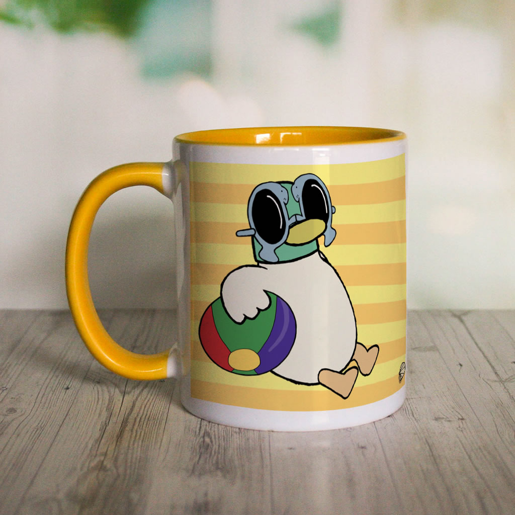 Sunny Duck Yellow Colour Insert Mug (Lifestyle)