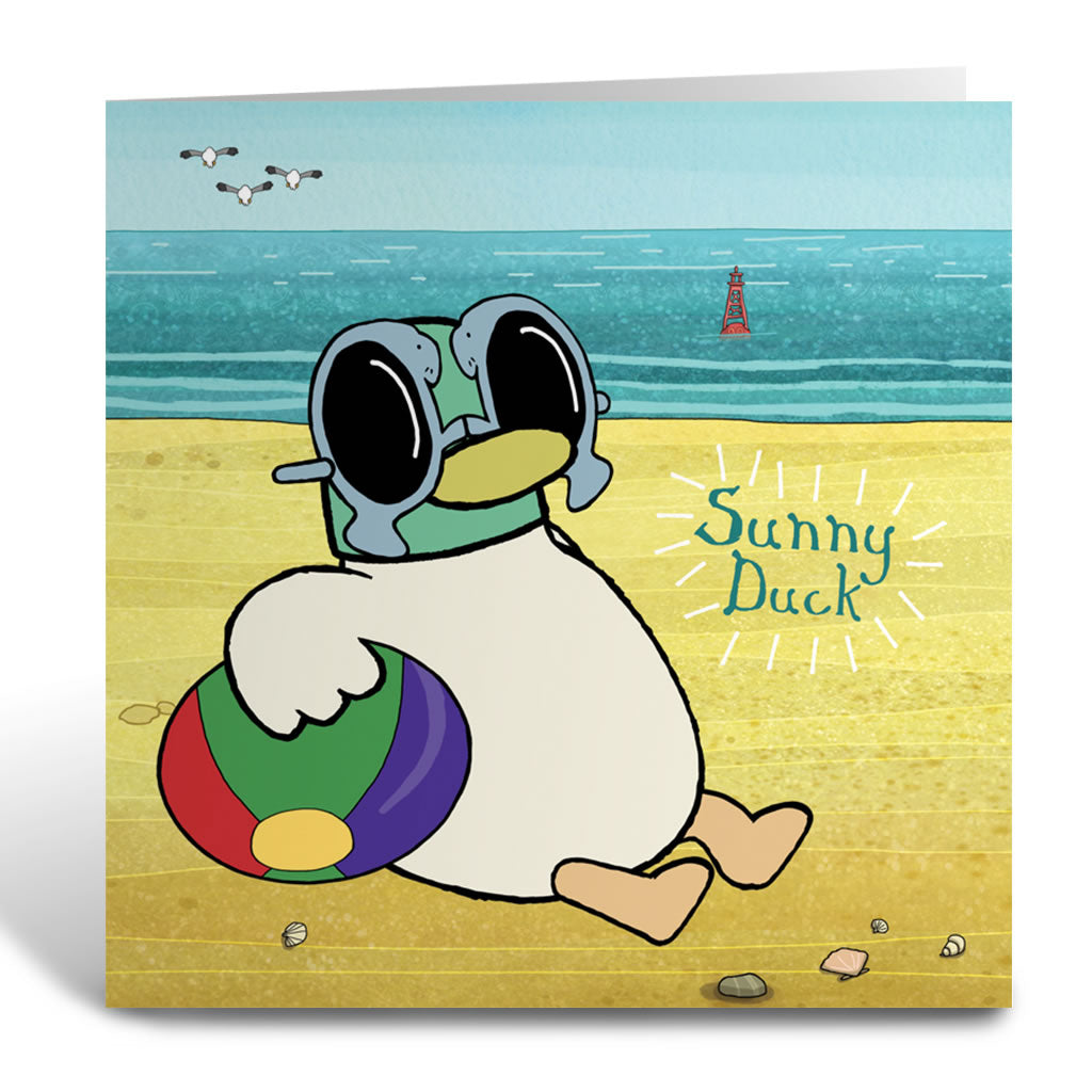 Sarah & Duck Sunny Duck Square Greeting Card