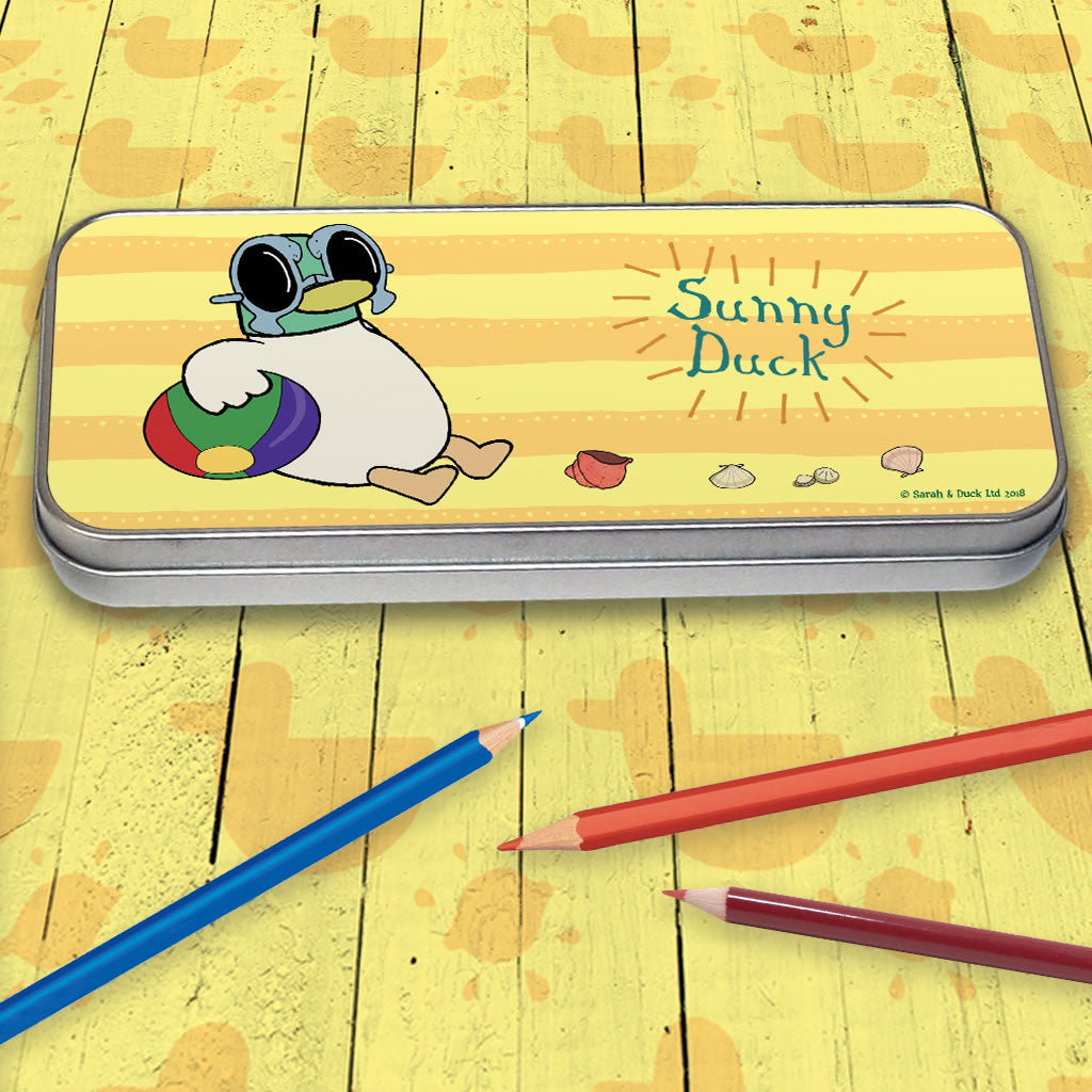 Sarah & Duck Sunny Duck Pencil Tin (Lifestyle)