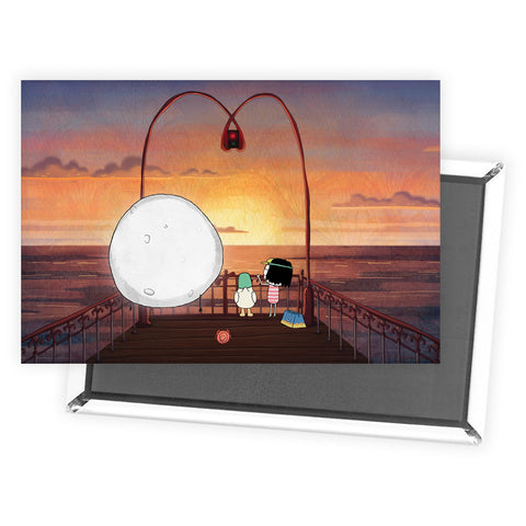 Sarah & Duck on the Pier Magnet
