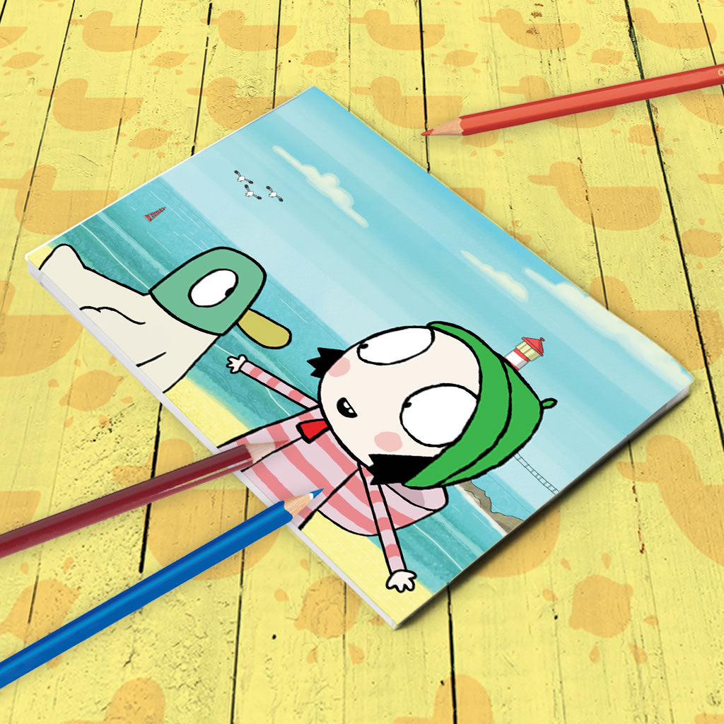 Sarah & Duck by the Seaside A5 Notepad (Lifestyle)