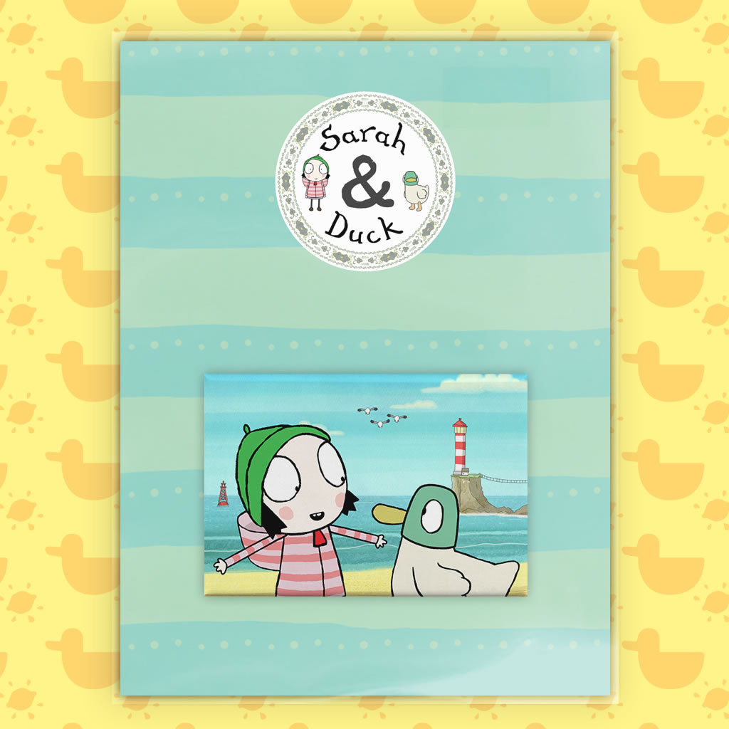 Sarah & Duck by the Seaside Magnet (Lifestyle)