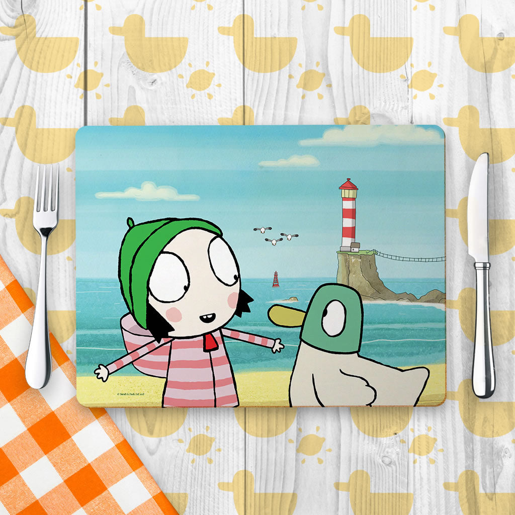 Sarah & Duck by the Seaside Placemat (Lifestyle)