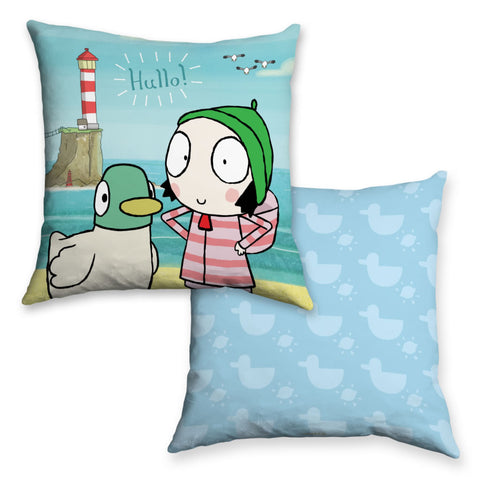 Hullo! Blue Sarah and Duck Cushion