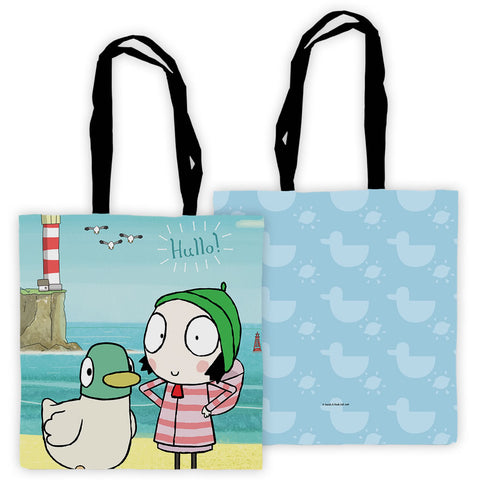 Hullo! Blue Sarah and Duck Edge to Edge Tote
