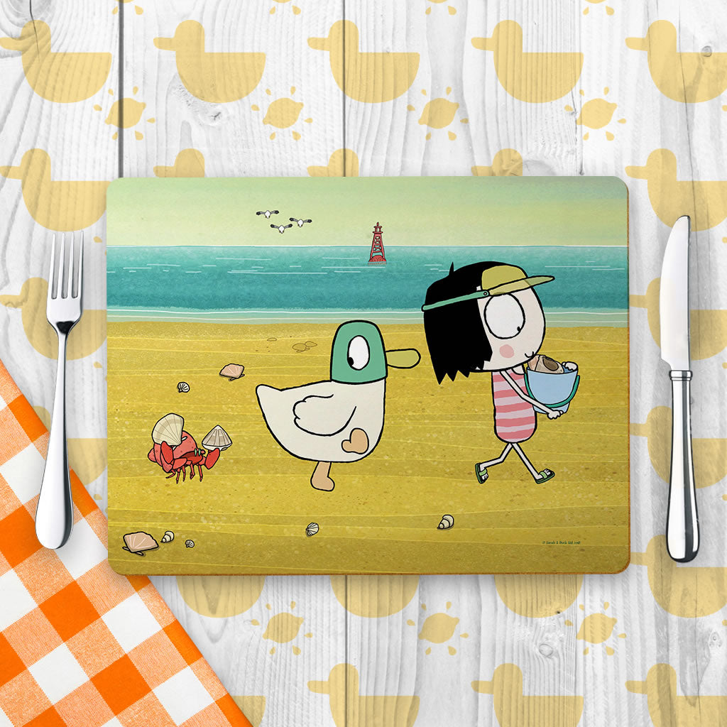 Sarah & Duck at the Beach Placemat (Lifestyle)