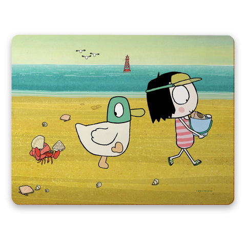 Sarah & Duck at the Beach Placemat