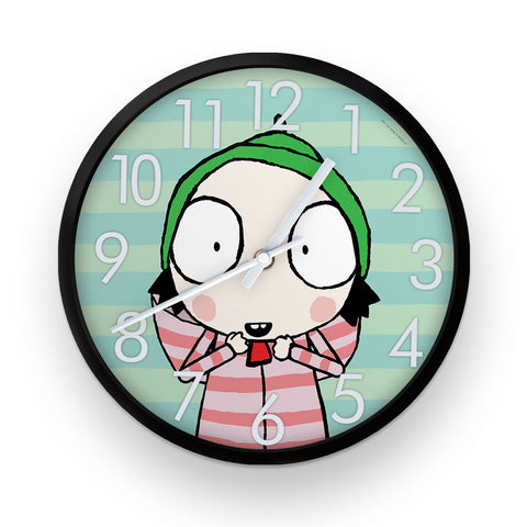 Sarah & Duck Blue Striped Clock