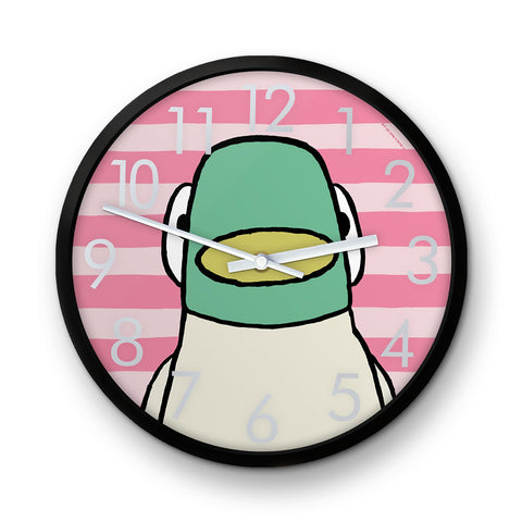 Sarah & Duck Pink Striped Clock