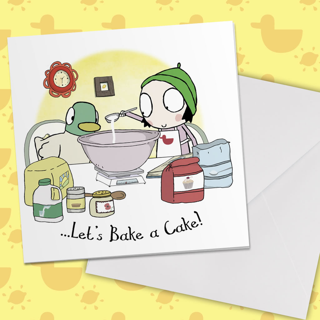 Sarah & Duck Greetings Card Lifestyle