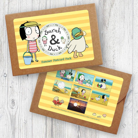 Sarah & Duck Summer Postcard Pack