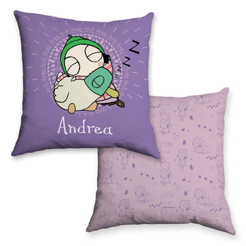 Personalised Sleepy Sarah & Duck Cushion