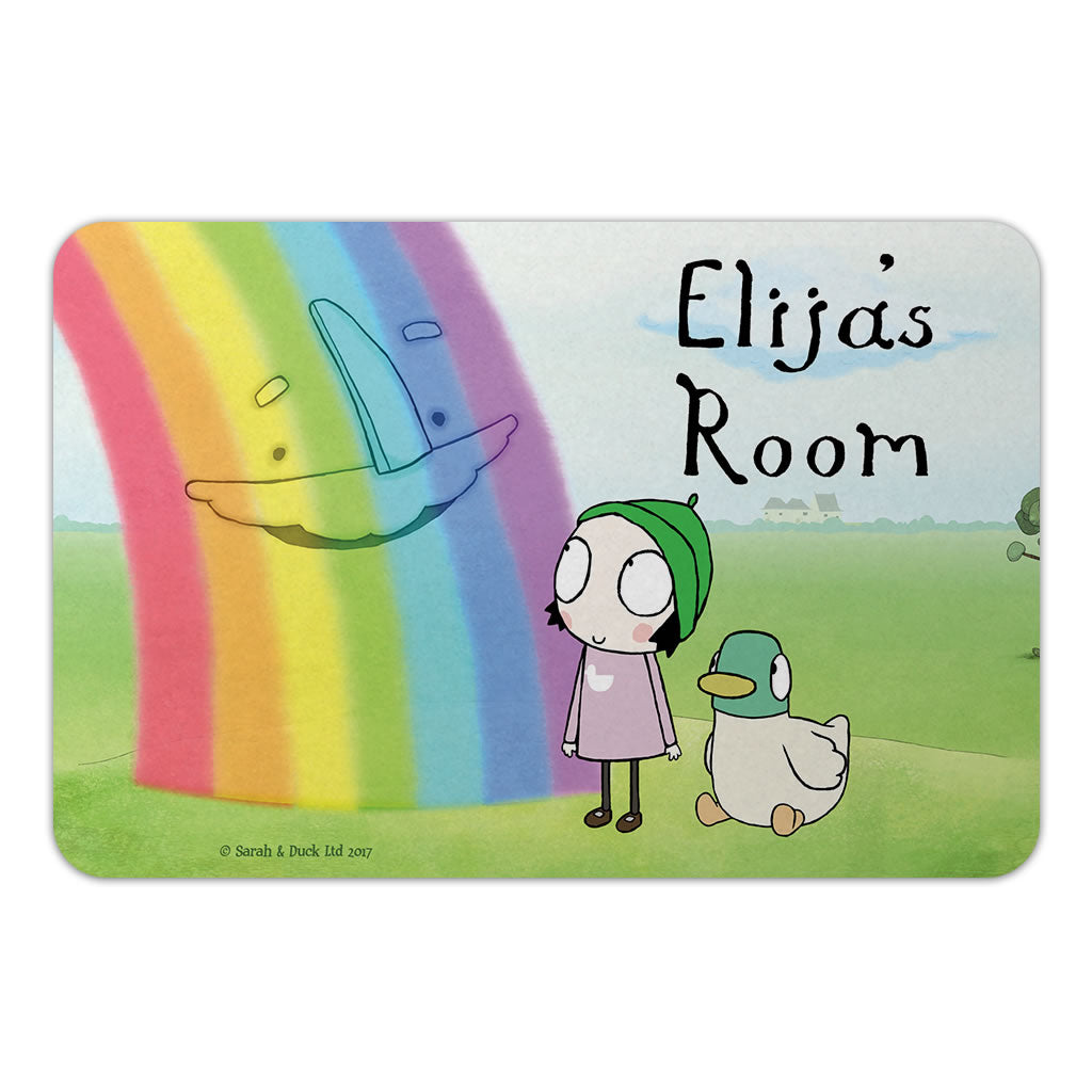Personalised Rainbow Door Plaque - Landscape