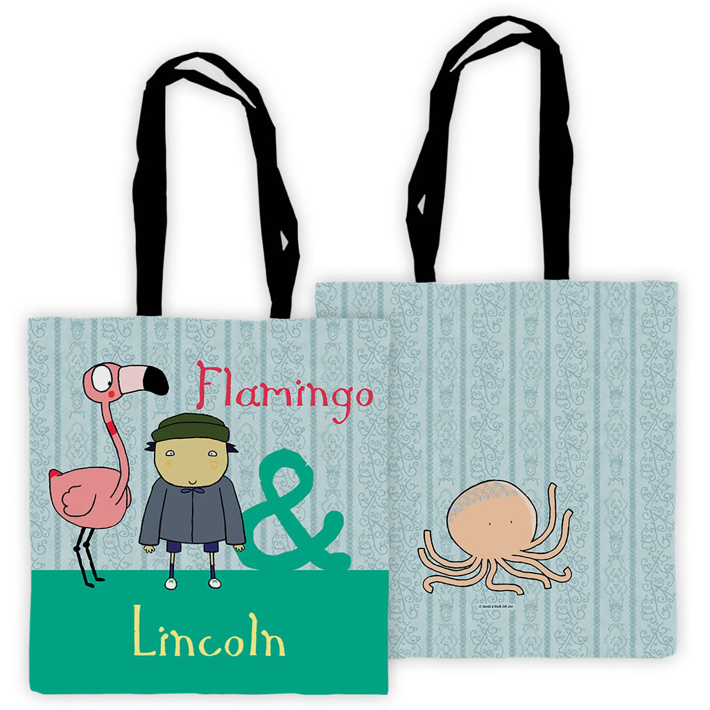 Personalised Flamingo Tote Bag