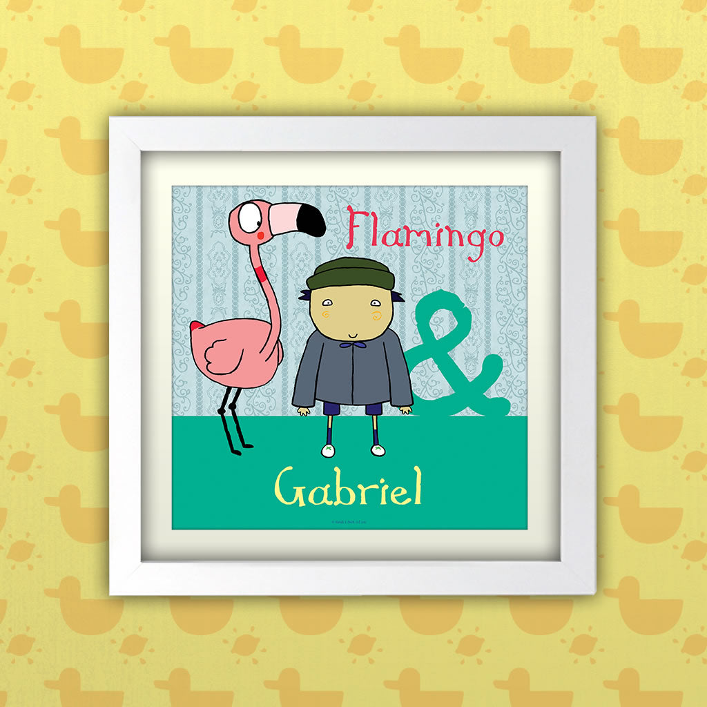 Personalised Flamingo Art Print