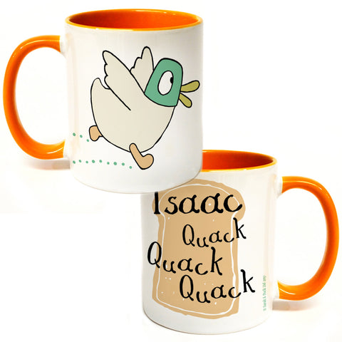Personalised Quack Quack Quack Colour Insert Mug