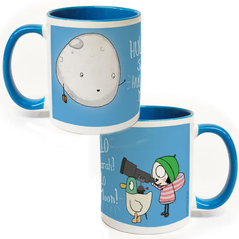 Personalised Hullo Moon Colour Insert Mug