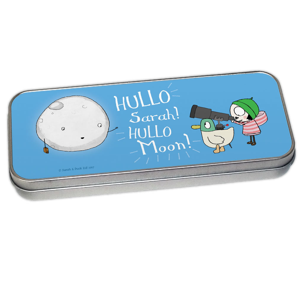 Personalised Hullo Moon Pencil Tin