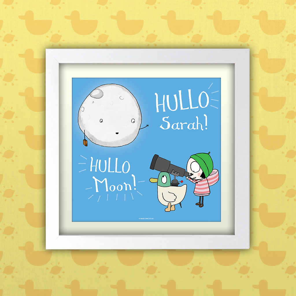 Personalised Hullo Moon Art Print