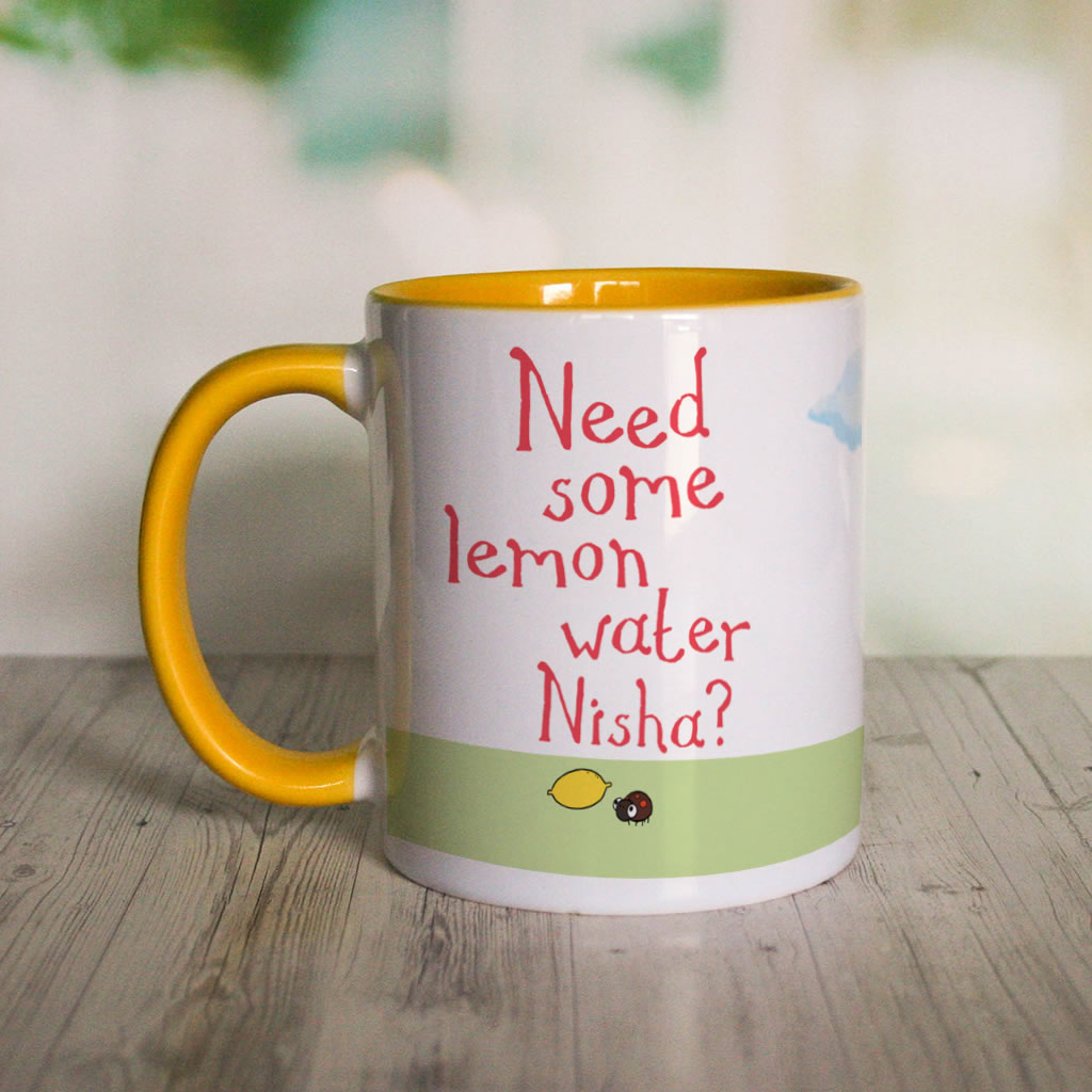 Personalised Need Some Lemon Water? Colour Insert Mug
