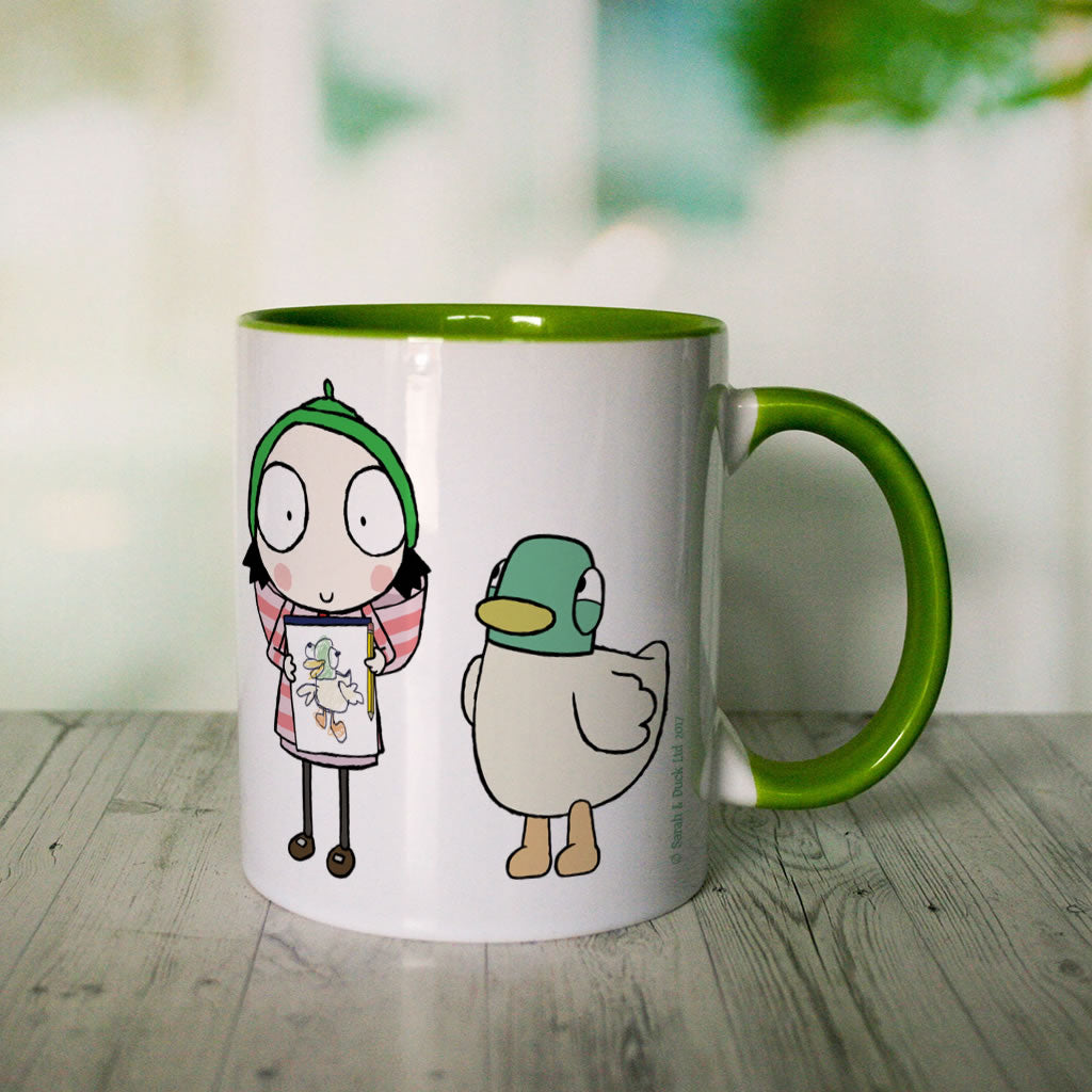 Personalised Sarah & Duck Are Celebrating Colour Insert Mug